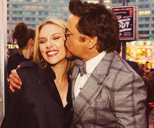 robert downey jr, Scarlett Johansson, and Marvel image