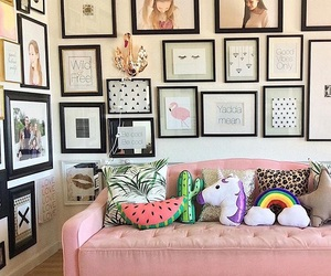 apartment, bedroom, and decoration image