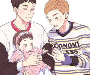 couple, xiumin, and chenmin image