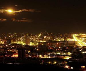 city, city lights, and kosovo image