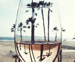 beach, drink, and glass image