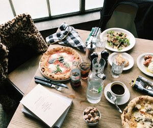 pizza, brunch, and cafe image