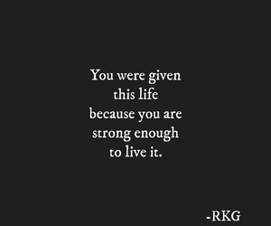 be strong, goals, and life image