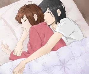 couple, manga, and sleeping image