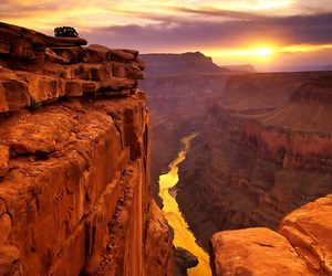 nature, grand canyon, and sun image