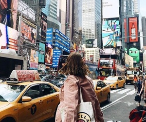 car, girl, and new york image