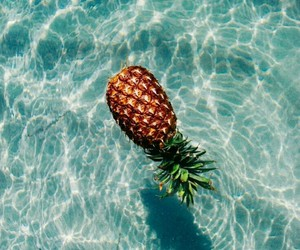 cool, pineapple, and water image