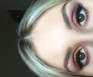 blonde, cosmetics, and eyes image
