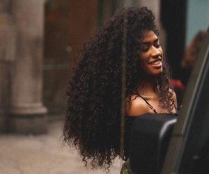curly hair, waist length curls, and long hair image