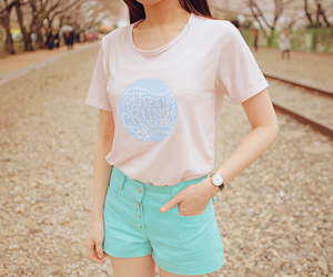 girl, pastel colours, and cute shirt image