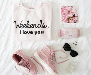 fashion, pink, and weekend image