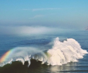 blue, ocean, and rainbow image