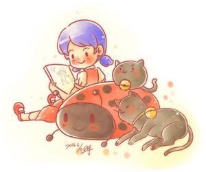 Chat Noir, adrien agreste, and ladybug image