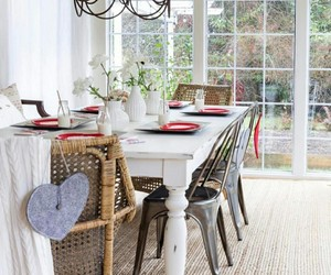 dining room, home decor, and cottage style image