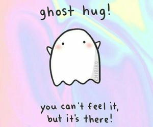 hug, ghost, and quotes image