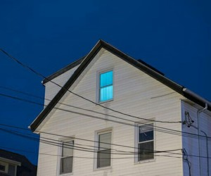 house, blue, and aesthetic image