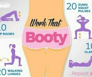 booty, healthy, and workout image