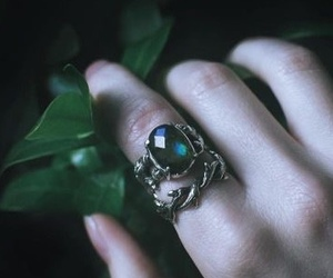 green, ring, and slytherin image