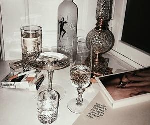 glasses, smoke, and wine image