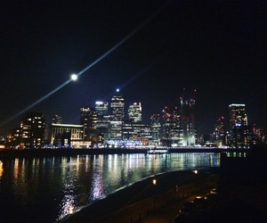 canary wharf, london, and london at night image