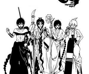 aladdin, manga, and magi image
