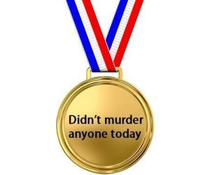 medal, funny, and murder image