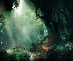 forest, fantasy, and art image