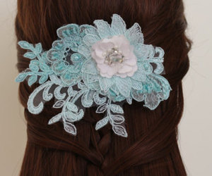 etsy, hair accessories, and lace hair comb image