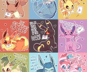 pokemon, eevee, and valentine image