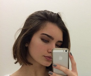 eyebrows and short hair image