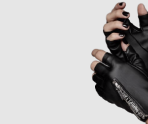 black, gloves, and aesthetic image
