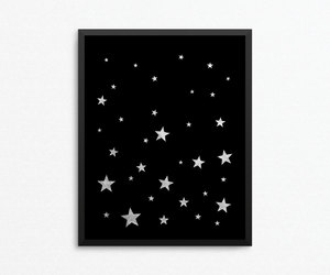 childrens art, star print, and digital download image
