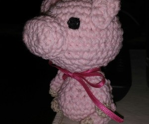 Cerdo, crochet, and pink image