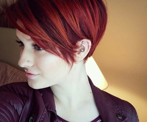 hair, pixie, and make up image