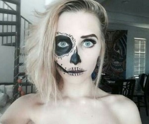 black, eyes, and blonde image