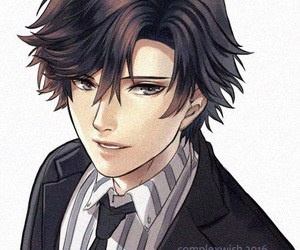 mystic messenger, jumin, and jumin han image