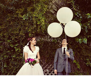 balloon, ruffled, and bouquet image