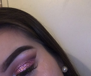 glitters, makeup, and pink image
