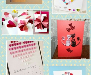 card, heart, and Valentine's Day image