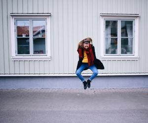 fashion, happy, and jump image