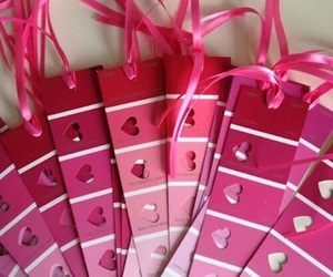 pink, heart, and valentine image