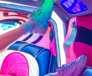 neon, shoes, and aesthetic image