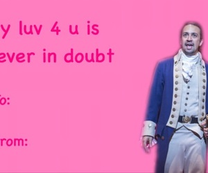 alexander, hamilton, and valentines day card image
