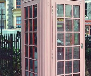 pink, telephone, and london image