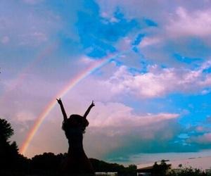 rainbow, sky, and indie image