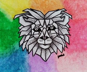 colors, lion, and draws image
