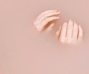 hands, aesthetic, and pink image