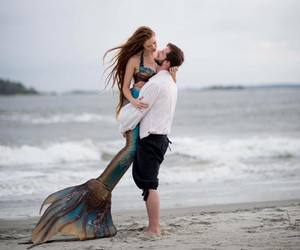 couple and mermaid image