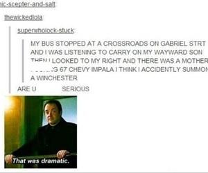 crowley, gabriel, and supernatural image