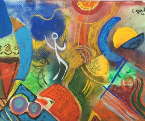 abstract art, contemporary art, and art gallery image